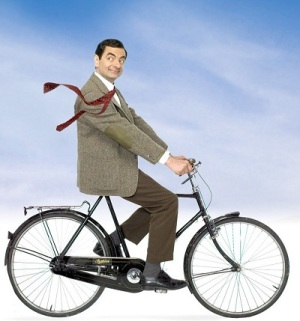 Mr-Bean-on-eco-bike