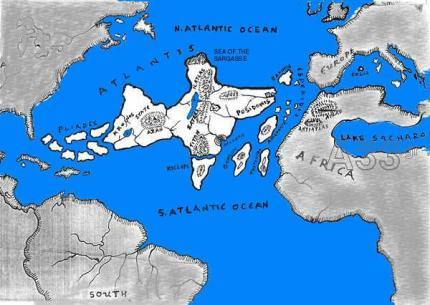 Χάρτης της Ατλαντίδας του ΒασΠάσχου